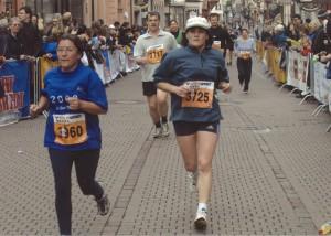 Christine Frei beim Heidelberger Halbmarathon 2003