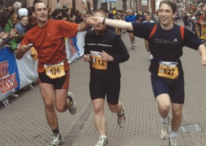 Martin Nelius und Marco Frei beim Heidelberger Halbmarathon 2003