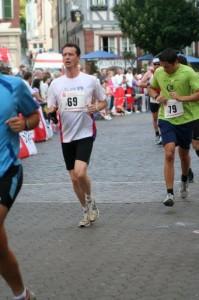 Bernhard Frey beim Mosbacher Stadtlauf 2009
