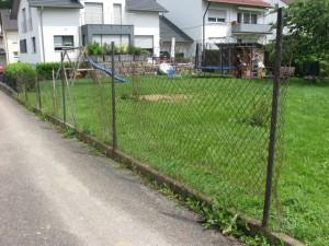 05.07.2013 Der alte Zaun muss weg