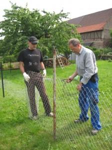 05.07.2013 Ein neuer Zaun wird aufgestellt