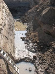 08.07.2013 Baugrube mit Dauerspülung
