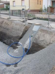 10.07.2013 Der Wasseranschluss ist gelegt