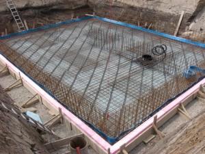 18.07.2013 Die Bodenplatte ist fertig eingeschalt