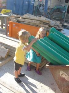 05.09.2013 Grüne Rohre für das Abwasser