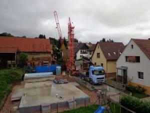17.09.2013 Der Kran wird wieder abgebaut