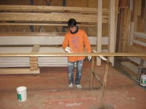 05.02.2014 Die Bauherren streichen wieder für die Garage